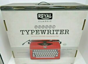 New Royal 79120q Classic Manual Typewriter Red