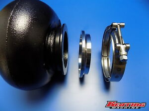 S400 T4 Housing 4 62 Half Marmon Exhaust Flange To 4 16ga Tube With Clamp Kit