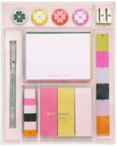 New Kate Spade New York Actually I Can 12 piece tackle Box Of Desk Accessories