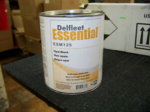 Ppg Defleet Essential Opal Black Single Stage Mixing Base Esm125 2 Gallon New