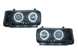 angel Eyes Head Light Lamp Set led Suit Toyota Landcruiser Fj 80 1990 1998