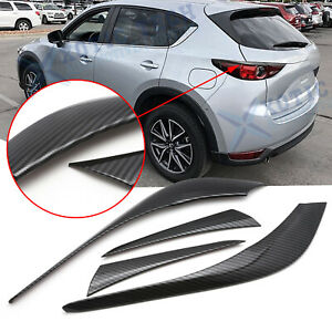 Carbon Fiber Texture Rear Tail Light Lamp Cover Trim For Mazda Cx 5 Kf 2017 2020