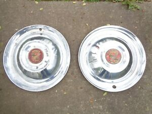 1950s Or 1960s Cadillac Sombrero Hubcaps Or Wheel Covers 15 Inch Universal Fit