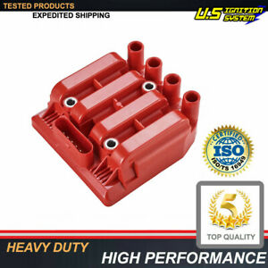 Uf484 Performance Red Ignition Coil 00 06 For Vw Jetta Golf Beetle 2 0l L4