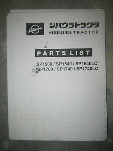 Shibaura Sp1500 Sp1700 Sp1540 Sp1740 Tractor Parts Manual
