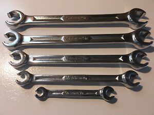Snap On Rxh605 5pc 6 point Sae Double End Flare Nut Wrench Set 1 4 13 16