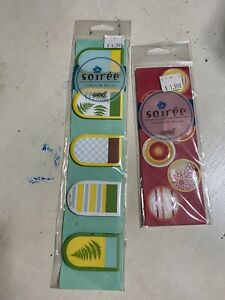 Page Markers Tabs Bookmarks Unique Sticky Notes Ferns Plants Stripes Seals