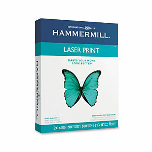 Hammermill Laser Print Paper Letter White 24lb 98 bright Ream Of 500 Sheets New