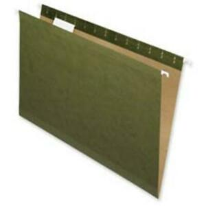 Hanging File Folders Recycled 2 Cut Letter Green