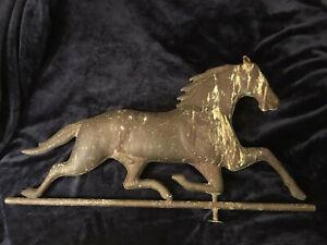 Vintage Copper Horse Weathervane Parts Without The Rod And Mount