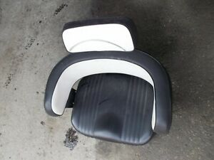 Farmall 706 806 Ih Tractor Nice Black White Back Deluxe Seat Cushion