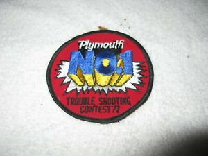 Nos Mopar 1972 Plymouth Trouble Shooter Patch