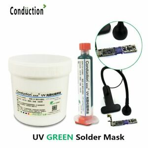 Green Oil Uv Cured Solder Mask 100g Bga Pcb Paint Prevent Corrosive Arcing