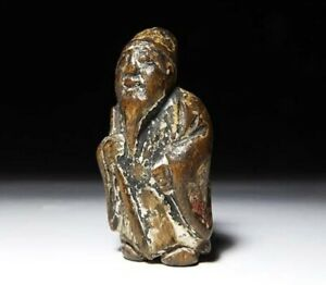 Japan Antique Netsuke Human Official Edo Era Inro Ojime Sagemono Rare Original