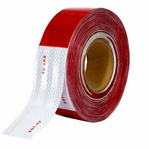 150 X 2 Red white Trailer Reflector Gift Houseables Reflective Tape Roll Dot C2