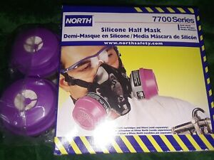 North 7700 Series Half Mask Respirator 7700 30m Medium