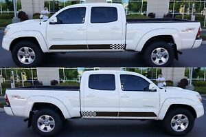 Decal Sticker Vinyl Stripe Kit For Toyota Tacoma 2004 2020 4x4 Door Supercharger