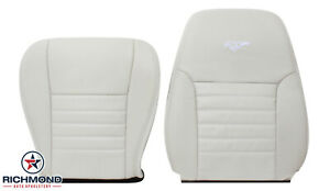 1999 2004 Ford Mustang Gt V8 Driver Side Complete Leather Seat Covers White