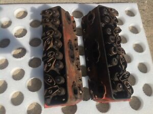 1957 1962 Chevy Belair 283 Sb Cylinder Heads 3731554 Matching Pair Original Oem
