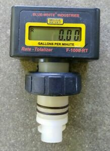 Blue white Industries Flow Meter F 1000 rt 2 Mpt 4 To 40 Gpm