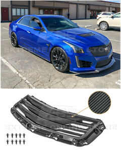 For 16 19 Cadillac Cts v Gm Factory Style Carbon Fiber Hood Vent Louver Cover