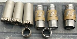3 New Conventional Drilling Core Bits 2 Catchers 3 Shells Nwd4 8 Drill Rig