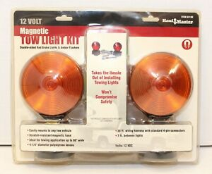 Haul Master Magnetic Tow Light Kit 12v With Wiring New Package