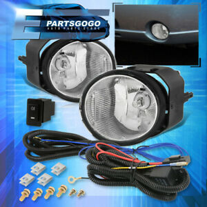 For 2001 2004 Nissan Frontier Xterra Fog Lights Clear Lens Bumper Lamps Wiring