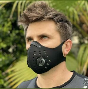Activated Respiratory Filtered Breathable Mask pollutant debris Filter