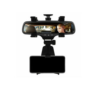 New Universal Car Rear View Mirror Mount Stand Holder Cradle For Cell Phone