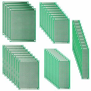 Deyue 40pcs Pcb Double sided Prototyping Pcbs Circuit Boards Kit 5 Size For