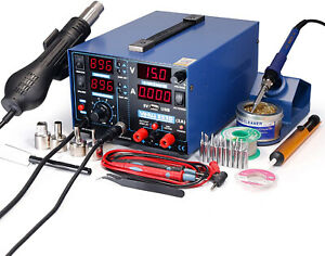 Yihua 853d 2a Usb Smd Hot Air Rework Soldering Iron Station Dc Power Supply 5v