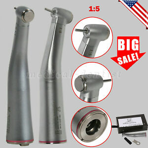 1 5 Dental Electric Contra Angle Handpiece Inner Spray Red Ring Fit Kavo Nsk Usa