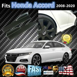 Fits Honda Accord 2008 2020 Carbon Fiber Style Side Skirts Spoiler Diffuser Wing