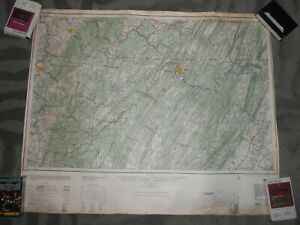 Cumberland Md 1952 Us Geological Survey Map 23 Z 28 In Color Contours Road Data