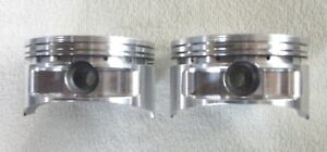 2 Only Forged Flat Top Pistons Sbc 23 Deg 4 125 6 0 3 75 stroke Free Shipping