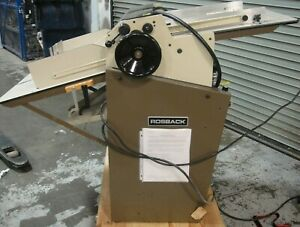 Rosback True Line Air feed Perforator score slitter 220 Av 1997