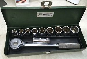 Sk S K 11 Pc 1 2 Drive 6pt 12pt Sae Sockets 7 16 To Max 1in Usa