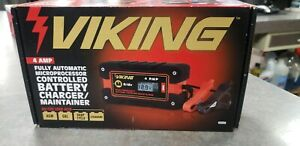 Viking Battery Charger maintainer 4 Amp Automatic Microprocessor Controlled