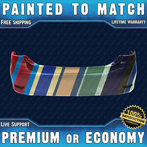 New Painted To Match Rear Bumper Replacement For 2011 2013 Toyota Corolla Sedan