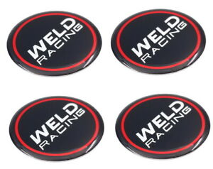 Set Of 4 Weld Racing Emblem Sticker 1 75 Diameter For Wheel Rim Center Caps