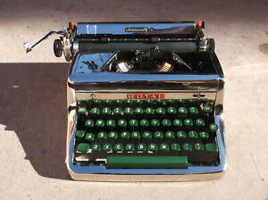 Antique Nickle 1950s Royal Manual Portable Typewriter Aristocrat
