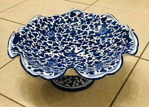 Deruta pottery For C.A Positano 14'' Centerpiece.Arabesco Pattern.Made In Italy