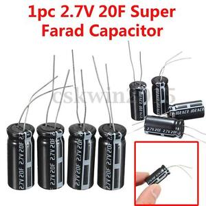 6pc Farad Capacitance 2 7v 20f Super Capacitor Capacitance 25mmx12mm Cylindrical