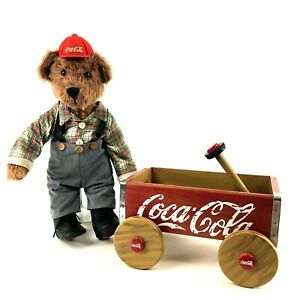 Vintage Coca Cola Wagon and Cubby Bear Franklin Mint Heirloom Collectible