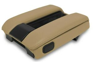 Fits 1995 2001 Bmw E38 Pvc Leather Console Lid Armrest Cover Beige