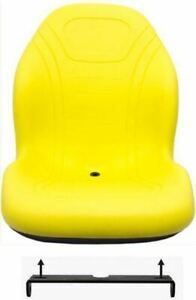 John Deere Yellow Seat W bracket Armrests And Switch Replaces Am879503