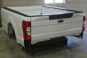 Oem Factory 2020 2021 Super Duty Long Bed 8 Truck Box White Aluminum Take Off