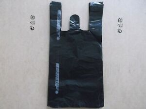 1250 Ct Plastic Shopping Bags T Shirt Type Grocery black Small Size Bags