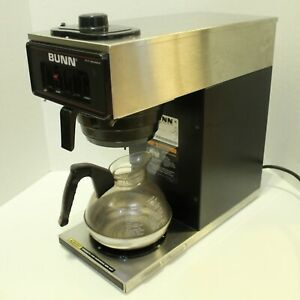 Bunn Vp17 1 Coffee Maker Machine Brewer Stainless Steel Black Funnel Carafe